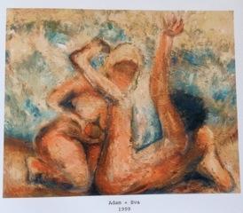 """Rotraud Rospert """"Adam und Eva mit dem Apfel"""""""