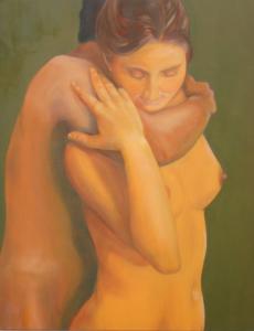 """Rotraud Rospert """"Vertrauen"""" Öl auf Leinwand, 2006, 80 x 100 cm"""